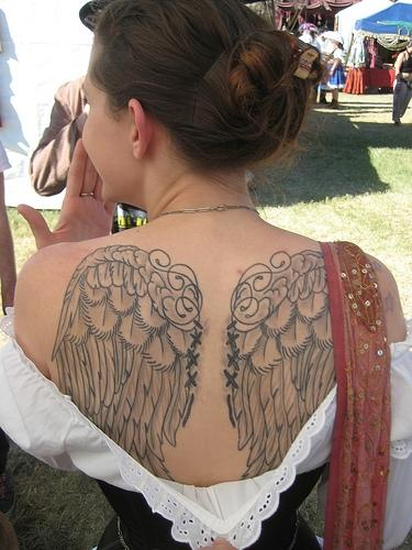 Celtic Cross Tattoos With Wings